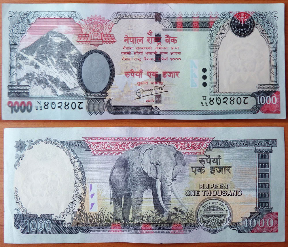 Nepal 1000 Rus 2010 Aunc Unc