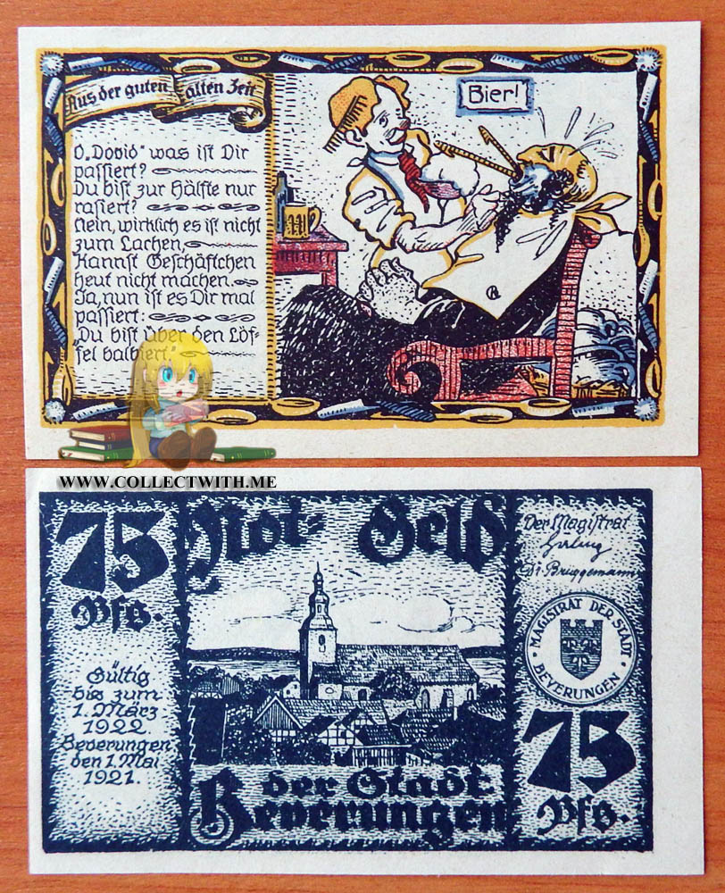 50 Pfg   1-JAN-1921   UNC German NOTGELD LEHRTE x 4    5 Pfg 25 Pfg 10 Pfg