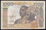 Senegal 1000 francs 1978 VF