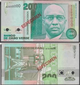 Кабо-Верде 200 эскудо 1989 aUNC Образец