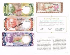 Сьерра-Леоне 0,5-5 леонов 1979 Комплект образцов CS2