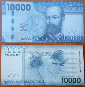 Чили 10000 песо 2012 UNC
