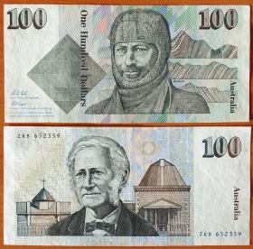 Австралия 100 долларов 1992 XF