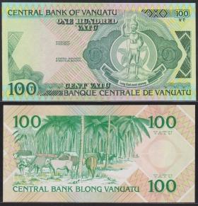 Вануату 100 вату 1982 UNC Proof или недопечатка
