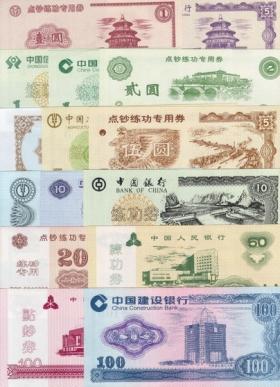 Китай 15 банкнот для тренировки кассиров UNC
