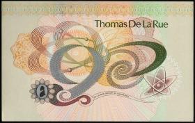 Великобритания демонстрационная банкнота Thomas De la Rue
