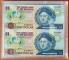 Bahamas 1 dollar 1992 UNC Uncut sheet in plastic case