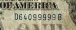 USA 1 Dollar 1928 А s/n 64099999