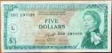 Eastern Caribbean (St. Lusia) 5 dollars 1965