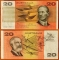 Australia 20 dollars 1991 XF/aUNC