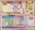 Fiji 10 dollars 2002 UNC