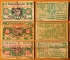 Austria 10, 20, 50 heller 1920 wooden