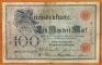 Germany 100 mark 1907 F/VF Series Z/B