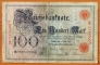 Germany 100 mark 1898 VF Series E/A