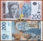 Serbia 200 Dinars 2013 UNC Serie AA