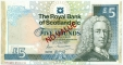 Scotland 5 pounds 1987 aUNC Specimen