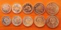 DPRK 5 coins 2002-2008 Specimen aUNC/UNC