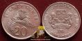 Singapore 20 cents 1985 VF