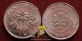 Singapore 10 cents 1987 XF