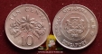 Singapore 10 cents 1988 XF