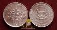 Singapore 10 cents 1993 XF