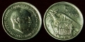 Spain 5 pesetas 1958
